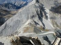 Il Colle dello Chaberton visto dall'alto della vetta