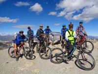 Sulla vetta del Monte Chaberton a 3.131 metri in MTB !
