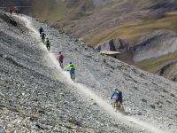 Discesa dalla cima dello Chaberton verso il Colle