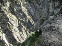 Il ponte tibetano nelle Gorge di S. Gervasio a Claviere
