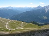 Panoramica della salita al Colle Basset - in primo piano a dx il Monte Charberton