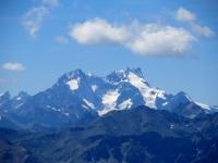 Panoramica dalla sommità del Monte Jafferau - Massiccio degli Ecrins: La Meije (3.983 m)