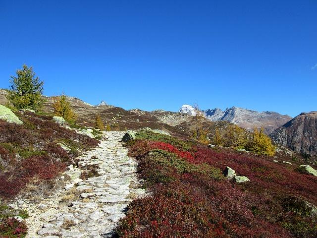 Straordinari colori autunnali lungo il sentiero in direzione di Unnerbodme