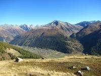 Panorama sull'Obergoms - In particolare al centro il vallone che scende dal Nufenenpass