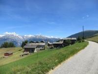 Riedji, panorama sull'arco alpino, dal Bietschhorn (sx) all'Aletschhorn (dx)