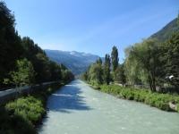Il fiume Vispa nei pressi di Visp