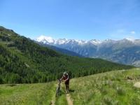 Arrivo a Sädolti al termine del sentiero da Gspon, tratto ripido ed energie in esaurimento...