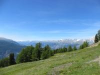 Sentiero da Sädolti per il Gebidumpass - ampia vista sul vallese
