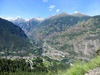 Salita a Staldenried, panorama su Stalden e l'inizio della Mattertal (Valle di Zermatt)