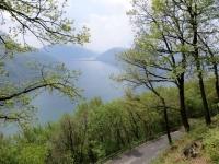 Lago di Lugano, scorcio durante la salita a Brè