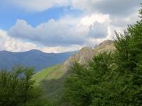 Panorama dall'Alpe Bolla su Monte Bar e Denti della Vecchia