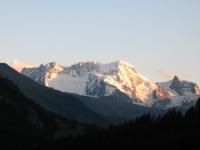 Breithorn e piccolo Cervino da Randa - tramonto