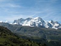 Castor, Pollux, Breithorn e Piccolo Cervino dall'Europaweg