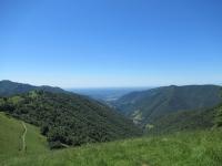 Panorama sulla pianura lombarda dalla sommità del Poncione di Cabbio