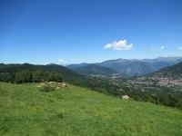 Panorama Val d'Intelvi  da Casasco - Sullo sfondo le prealpi lecchesi