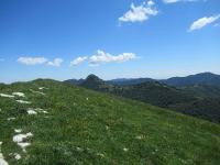 Panorama sul Sasso Gordona e Poncione di Cabbio  da Mater (vista a sud)