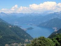 Lago di Como da Mater - Isola Comacina e la punta di Bellagio