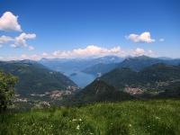 Panorama su Lago di Como da Mater