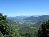 Panorama sulla Val d'Intelvi salendo al Rifugio Prabello