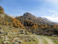 Val di Carassino, inizio del tratto finale di salita, più impegnativo, in direzione della Capanna Adula CAS