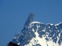 Il Dente del Gigante (mt 4.013), caratteristica sommità all'interno del Massiccio del Monte Bianco