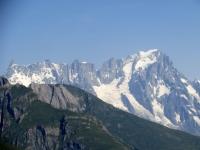 Massiccio del Monte Bianco con il famoso Dente del Gigante sulla sinistra