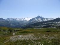 Salita al Colle Belvedere, panorama sul Rutor