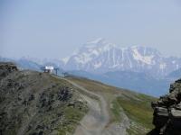 Salita al Colle Belvedere, panorama sul Grand Combin (mt. 4.310)