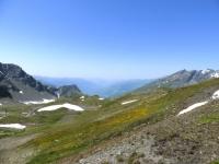 Panorama dal Colle Belvedere, vista sulla Val d'Isere (Francia)