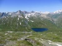 Il Passo del Piccolo San Bernardo ed il Lago Verney visti dal Colle Belvedere