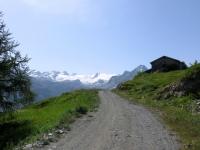 Salita a Les Suches, panorama sul Rutor
