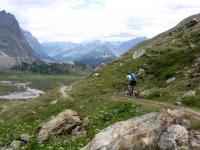 Discesa lungo la Val Veny