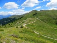 Panoramica del tratto percorso lungo la Via dell'Assietta dal Colle Blegier