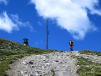 Ultimi metri prima della vetta del Monte Genevris