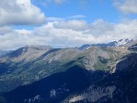 Panorama sullo Jafferau dalla sommità del Genevris