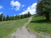 Discesa verso Pian della Rocca dal Colle di Costa Piana