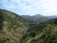La valle del torrente Gorzente - La diga del Lago Bruno