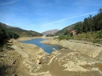 Il Lago Bruno (a ridotta portata causa lavori di pulizia in corso)