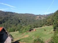 Bel panorama salendo in direzione del Giardino Botanico di Pratorondanino