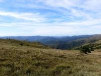 Panorama  nord dal Colle Gandolfi (poco visibili causa foschia il Monviso ed il Monte Rosa)