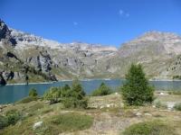 Il Lago di Cignana visto nei pressi del rifugio Barmasse
