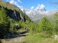 Discesa in direzione dell'alpeggio di Liorterè