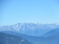 Massiccio dell'Adamello (3.539) dalla Croce dell'Alpe Poverzone