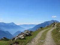 Bello sterrato che collega l'Alpe Poverzone con il Lago di Colina