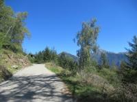 In direzione dell'Alpe Forcola