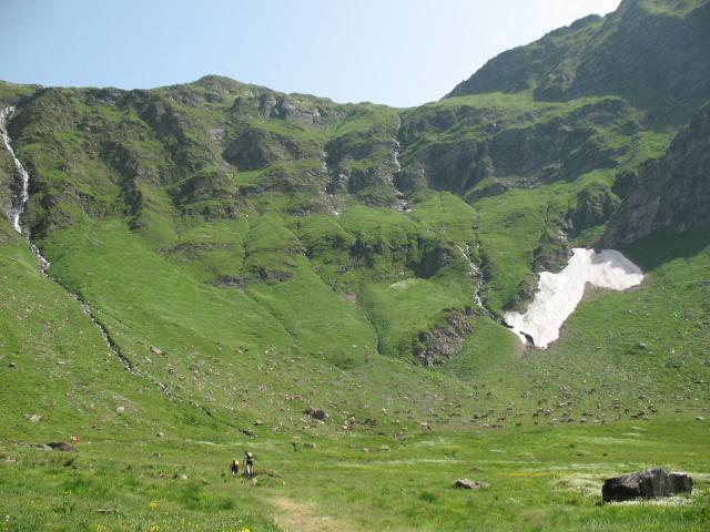 Alpeggio nei pressi di Cadagno di dentro sotto il Piz Corandoni