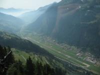 Panorama Val Leventina dalla funicolare