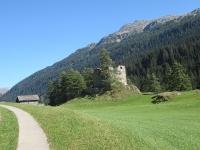 In prossimità di Splügen sulla via del ritorno