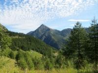 Bifigjini Alp, sullo sfondo il Passo del Monscera