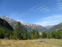 Valle del Sempione (al centro Simplon Dorf) dal Passo Furggu